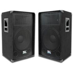 "Seismic Audio - Pair of 12"" PA DJ Speakers 600 Watts PRO Audio - Mains, Monitors, Bands, Karaoke, Churches, Weddings"