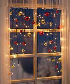 LED Lichterkette Christmas Lichtervorhang Weihnachtsdeko 70 Led´s Kugeln 130cm in Möbel & Wohnen, Feste & Besondere Anlässe, Jahreszeitliche Dekoration | eBay