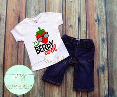 I'm Berry Cool Strawberry Shirt Shirts for by VYCustomBoutique