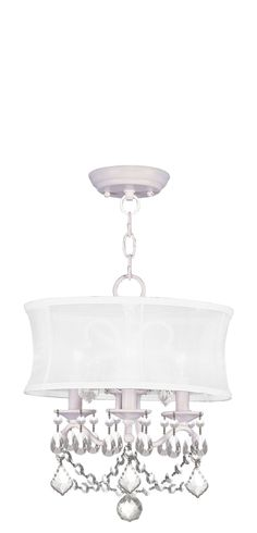 Livex Lighting Newcastle White Convertible Chain Hang/Ceiling Mount 6303-03