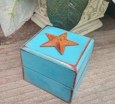 Engagement Ring Box - Rustic, Shabby Chic Ring Box - Jewelry Box - Gift Box- Wedding