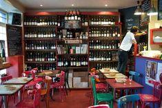 Restaurant Le Verre Volé, paris 10. petites seiches frites, bulots, crème de citron et vin rouge pas trop cher