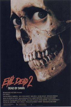 Evil Dead 2: Dead By Dawn (1987)  Directed by Sam Raimi  Starring Bruce Campbell & Ted Raimi  This movie transcends plot