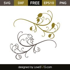 *** FREE SVG CUT FILE for Cricut, Silhouette and more *** Floral