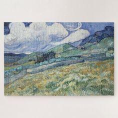 Landscape Vincent van Gogh Travel Painting Family Jigsaw Puzzle #jigsaw #puzzle #jigsawpuzzle Custom Gift Boxes, Customized Gifts, Custom Gifts, Custom Jigsaw Puzzles, Van Gogh Paintings, Vincent Van Gogh, Lovers Art, Vintage Art, Landscape