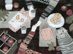 Fall Date Art Print by Yuliya | Society6