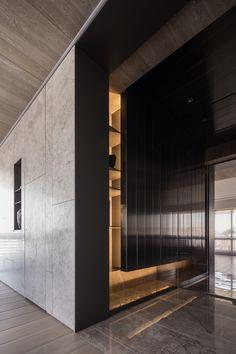 da-interior-taipei - WEIMAX STUDIO Hallway Designs, Foyer Design, Entrance Design, Wall Design, House Design, Interior Design Photos, Beautiful Interior Design, Contemporary Interior Design, Modern Entrance