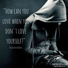 "The rock band Social Distortation has a great line in their song called ""I was wrong"". The lyrics in this song are very spot on as it talks about those on a path of self-destruction, blaming others for their circumstances all because of lacking self-love: How can we love if we don't love ourselves? #holisticpsych"
