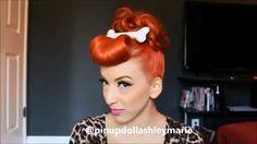 "Videos Fashion Tutorials on Instagram: ""Pebbles meets Wilma hair tutorial! by @pinupdollashleymarie"""