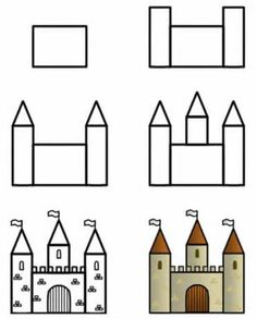How to draw  a simple castle