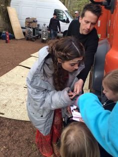 Jenna meets the fans during filming of Robots of Sherwood. (Ryan Farrell).