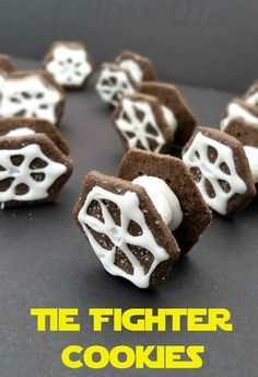 Star Wars Tie Fighter Cookies - Easy and tasty afterschool activity/snack or party idea.