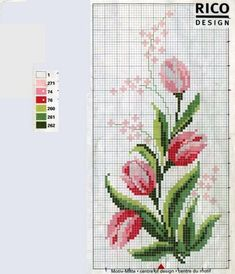 Esquemas para cojines | Aprender manualidades es facilisimo.com Cross Stitch Patterns, Cross Stitch Bird, Cross Stitch Flowers, Cross Stitch Designs, Cross Stitch Charts, Cross Stitching, Brick Stitch, Blackwork Embroidery, Ribbon Embroidery