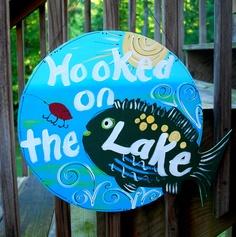 Door Hanger: Lake House Sign, Lake House Decor, Lake Sign. $30.00, via Etsy.