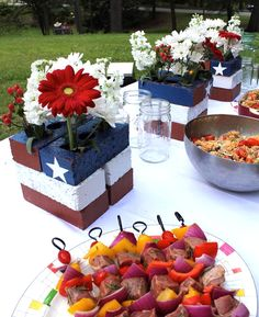 DIY Patriotic Decor: American Flag Centerpiece - Home Improvement Blog – The Apron by The Home Depot