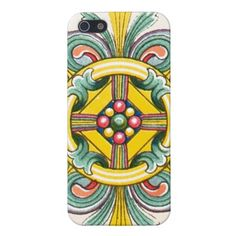 Funky Vintage Colorful Celtic Graphic Design Cases For iPhone 5