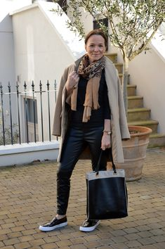 London Style in Black Leather by @TheLadyofStyle via @sallymcgraw