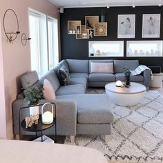 Cozy Living Room For Your Home - Living Room Design Small Living Room Design, Living Room Decor Cozy, Living Room Goals, Home Living Room, Living Room Designs, Living Spaces, Lamps In Living Room, Grey Room Decor, Apartment Living