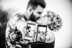 Funny moment couple photoshoot