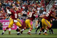 Kirk Cousins's quarterback rating has improved every month this season. National Football League, Football Team, Big Data Applications, Kirk Cousins, Nfc East, Tight End, Data Analytics