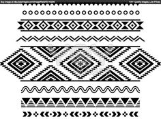 Royalty Free Vector of Tribal Seamless Pattern, Aztec Black And ...