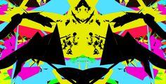 #AlchemyPatterns #digital #colour #yellow #pink #lightblue #black #green #man #design