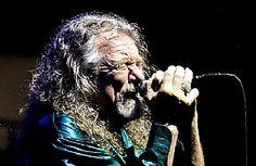 Robert Plant fronts the Sensational Space Shifters in a stop at Hala Rondo in Brno, Czech Republic, July 23. (Vaclav Salek, CTK via AP) #RobertPlant