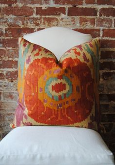 Navajo  Robert Allen   Pillow Cover  22 in square  by MarthaAndAsh, $52.00