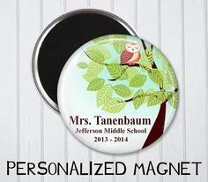 Teacher Gift Teacher Magnet Custom Teacher Gift by LisaPinkPrints