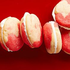Candy Cane Sandwich Cookies - can freeze for up to 3 months