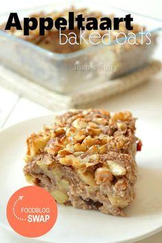 Appeltaart baked oats -> moet ik zeker eens proberen voor mijn ventje!