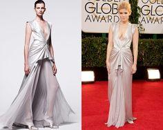 Look de J. Mendel Pre Fall 2014 / Kate Mara en la alfombra roja de los Golden Globes Awards