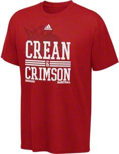 Indiana Hoosiers adidas Crean & Crimson Basketball T-Shirt
