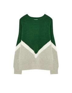 Soft tricoloured sweater - Knit - Clothing - Woman - PULL&BEAR Ukraine