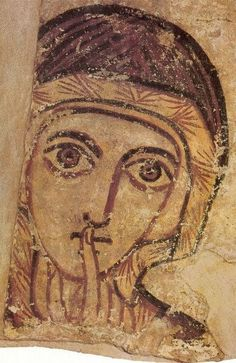 An century portrait of St Anne, the mother of the Virgin Mary from the ancient Nubian city of Faras between what is now Egypt and Sudan. St Anne, Religious Icons, Religious Art, Madonna, Art Ancien, Jesus Christus, Byzantine Art, Orthodox Icons, Medieval Art
