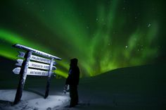 Great aurora borealis, Nov 2012 in Lapland by photographer Timo Veijalainen