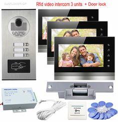 Türsprechstelle Clever Neue Wohnung 9 farbe Screen Video Intercom Tür Telefon System 2 Monitore Sicherheit & Schutz 1 Türklingel Kamera Für 2 Haus Familie Kostenloser Versand