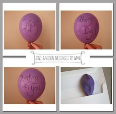 Send balloon message by mail!  A thoughtful and creative gift