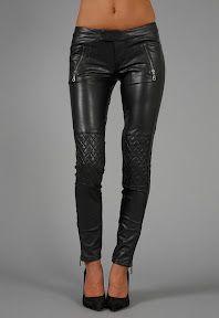 LindsiLane | StyleOwner.com: Work Custom Jeans Japanese faux leather tuxedo leggera