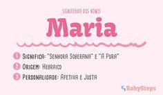#Maria #babysteps #significadonome #nomes #menina #bebé                                                                                                                                                                                 Mais