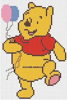 Schemi punto croce topolino sulla luna idee per la for Winnie the pooh punto croce schemi