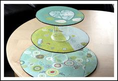 cake circles and plastic glasses makes a cupcake stand