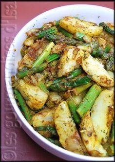 Salade chaude pomme de terre asperge- Gourmandises d'Isa