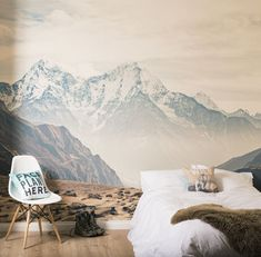 Mountain Vista Self Adhesive Wallpaper Mural