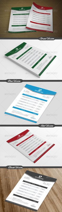 Clean Invoice Template, Print templates and Project proposal