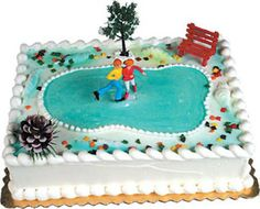 ICE SKATING CAKE DECORATING KIT Topper Decoration Winter Sports Party Set #Unknown #BirthdayAdult