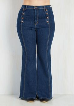 4aa519c1a7b57 County Flare Jeans - 1X-3X. Travel through the fairgrounds with festive  charisma in these retro