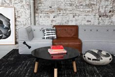 Koskela (one of my favourite shops in Sydney) 85 Dunning Avenue Rosebery Cozy Living Rooms, Living Room Sofa, Living Room Interior, Home And Living, Living Spaces, Dining Room, Living Room Inspiration, Home Decor Inspiration, Sofa Furniture