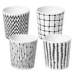 Bono Mugs in White and Black Pattern, You could totally DIY this with permanent marker and blank mugs.