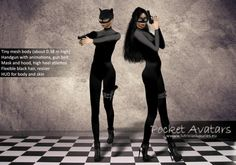 Pocket Avatars Sci-Fi, Petite Cat Woman, complete small mesh avatar, petite and tiny in size, ALL seen included! DEMO